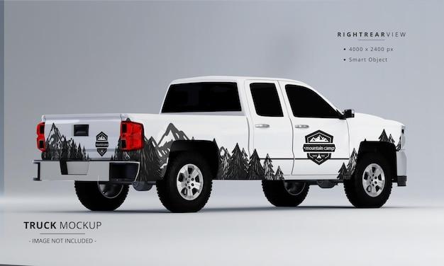 Pickup truck makieta z prawego tylnego widoku
