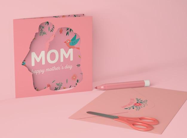 Piękna aranżacja dla twórcy sceny z okazji dnia matki