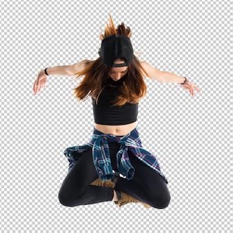 Piękna dziewczyna miejski tancerz
