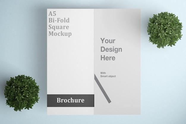 Piękna makieta broszury bifold