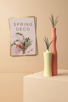 Piękna makieta koncepcji wiosennej dekoracji