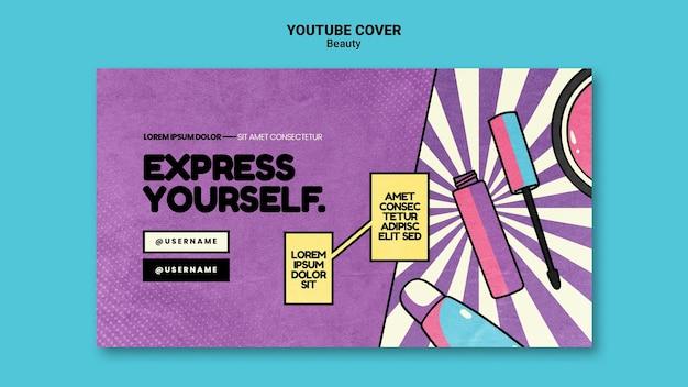 Piękna Pop-artowa Okładka Youtube Darmowe Psd