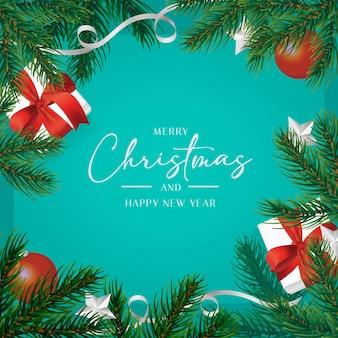 Piękna świąteczna kartka z życzeniami