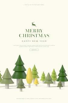 Piękne Kartki świąteczne I Szczęśliwego Nowego Roku Premium Psd