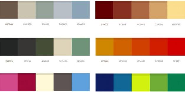 Piękne palety kolorów psd