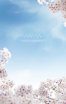 Piękne wiosenne kwiaty tło