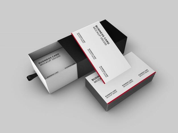 Pięknie zaprojektowana prosta makieta wizytówki