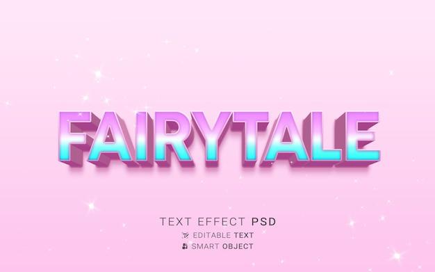 Piękny bajkowy efekt tekstowy