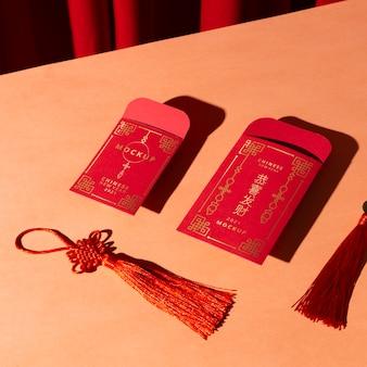 Piękny chiński nowy rok koncepcja makiety