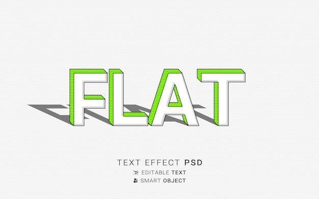 Piękny efekt płaskiego tekstu