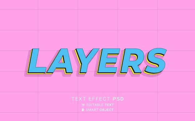 Piękny efekt tekstowy warstw