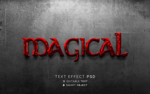 Piękny magiczny efekt tekstowy