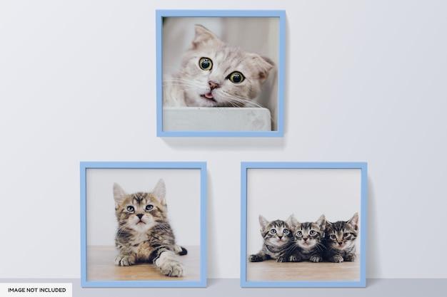 Piękny projekt makiety ramki na zdjęcia