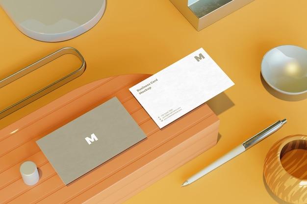Piękny projekt makiety wizytówki