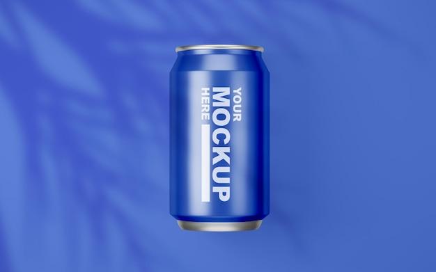 Piękny realistyczny napój może makieta