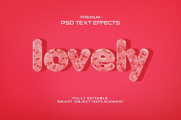 Piękny szablon efekt tekstu valentine