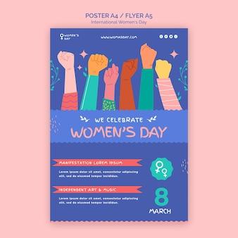 Piękny szablon plakatu na dzień kobiet