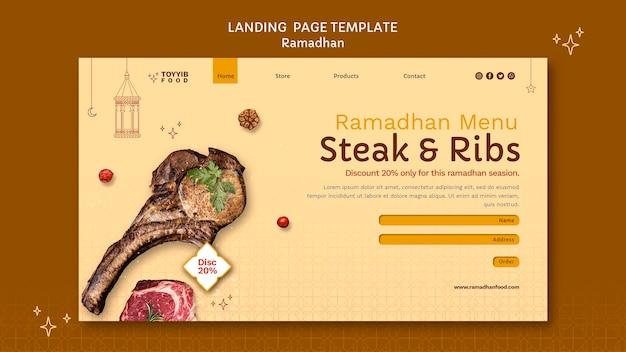 Piękny szablon sieci web ramadan