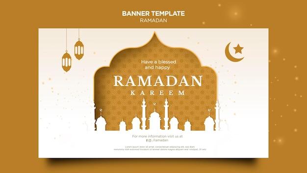 Piękny szablon transparent ramadan