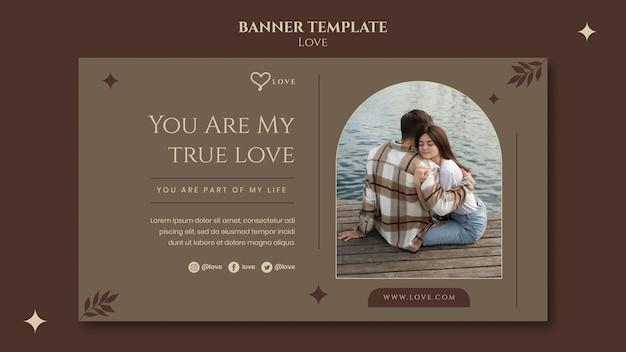 Piękny szablon transparentu dla pary