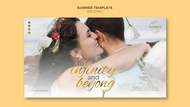 Piękny szablon transparentu ślubnego