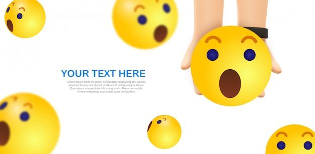 Pielęgnacja emoji - trzymaj ręce za żółty emotikon na facebooku