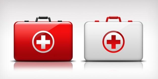 Pierwsza pomoc medyczna zestaw ikon