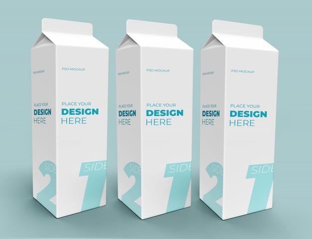 Pij karton do mleka lub innych makiet napojów