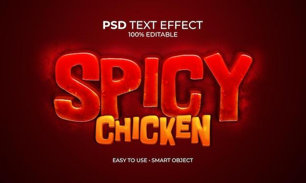 Pikantny Efekt Tekstu Kurczaka Premium Psd