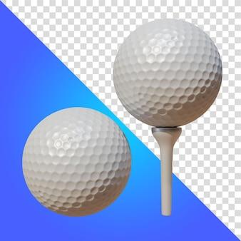 Piłeczki do golfa 3d renderowania na białym tle