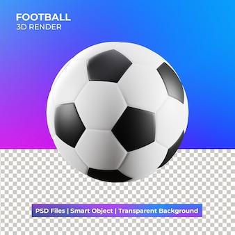 Piłka nożna 3d ilustracja na białym tle