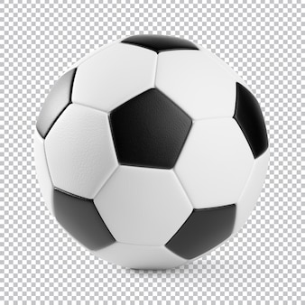 Piłka nożna na białym tle renderowania 3d