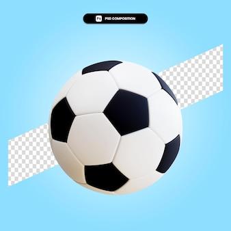 Piłka nożna piłka 3d render ilustracja na białym tle