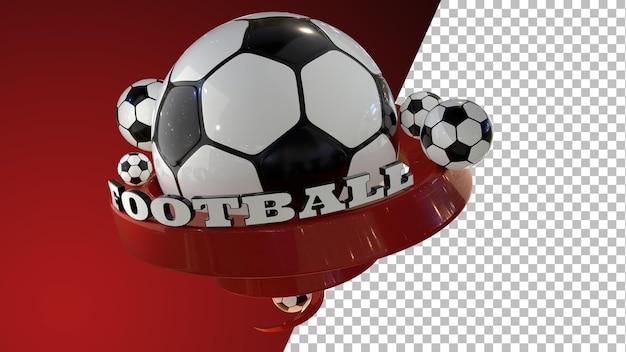Piłka nożna piłka nożna renderowanie grafiki 3d
