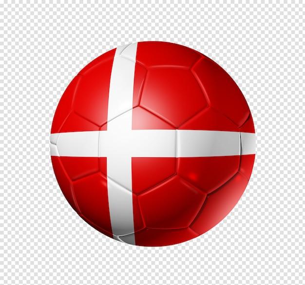 Piłka nożna piłka z flagą danii