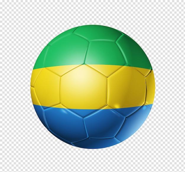 Piłka nożna piłka z flagą gabonu