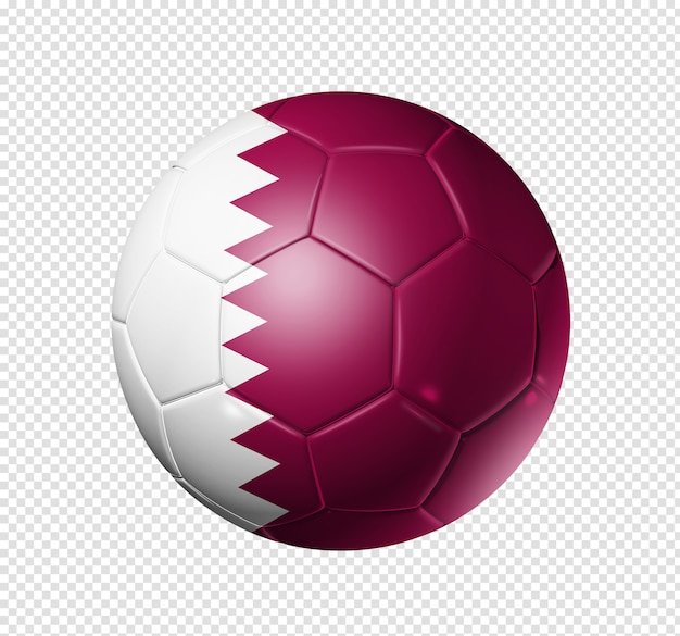 Piłka nożna piłka z flagą kataru