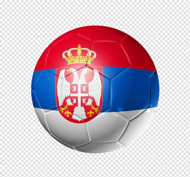 Piłka nożna piłka z flagą serbii