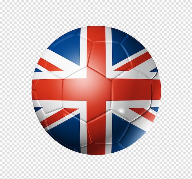 Piłka nożna piłka z flagą wielkiej brytanii