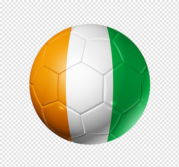 Piłka nożna piłka z flagą wybrzeża kości słoniowej