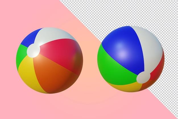 Piłka plażowa renderowania 3d na białym tle