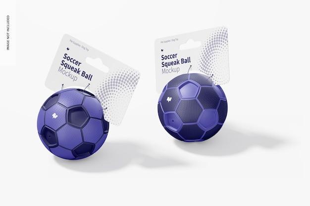 Piłki nożnej piszczące makieta, widok z lewej strony
