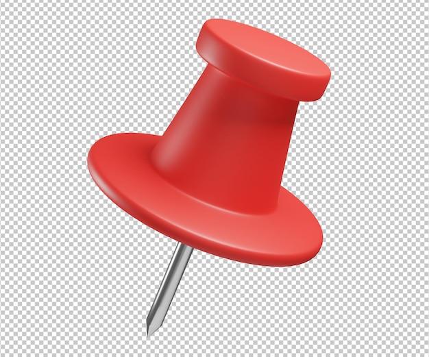 Pinezka ikona 3d ilustracja projekt renderowania na białym tle
