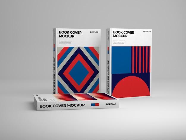 Pionowa książka w twardej oprawie z edytowalnym makietą koloru tła