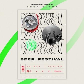 Pionowa ulotka na festiwal piwa