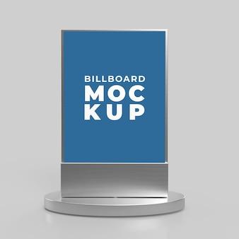 Pionowy billboard makiety