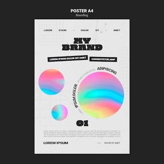 Pionowy plakat brandingowy firmy w kształcie kolorowych kółek