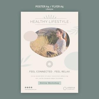 Pionowy plakat dla firmy zajmującej się zdrowym stylem życia