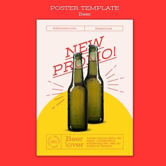 Pionowy plakat dla miłośników piwa