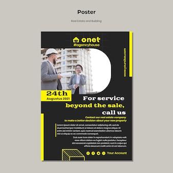 Pionowy plakat dla nieruchomości i budownictwa